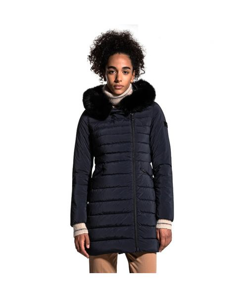 LONG DOWN JACKET WITH FUR SERIOLA