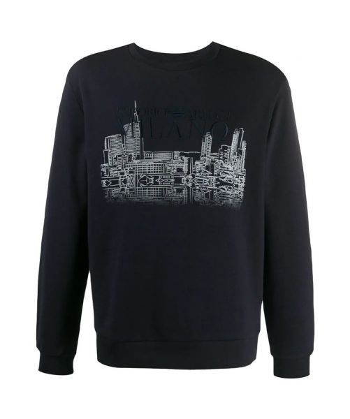 SWEATSHIRT WITH MILANO PRINT