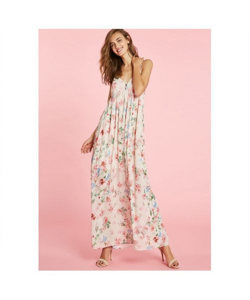 ANIYE BY VALERI LONG DRESS WITH FLOWERS