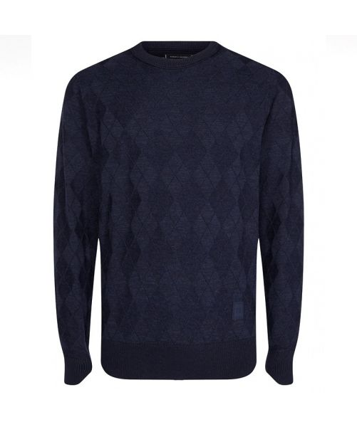 ORGANIC COTTON ARGYLE JUMPER