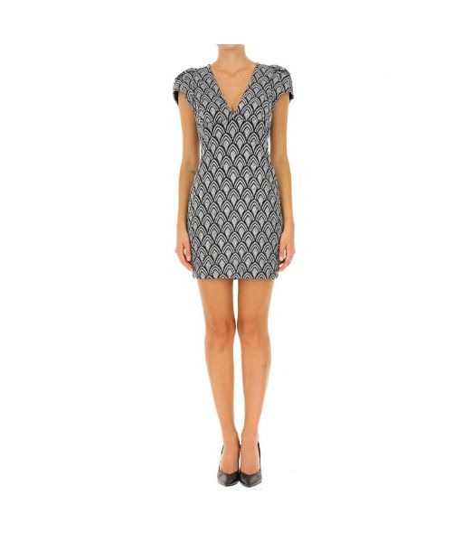 QUEEN DRESS WITH GEOMETRIC PATTERN