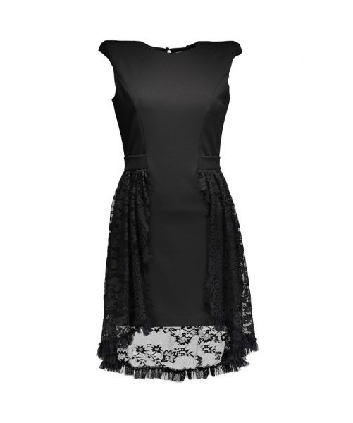 EVA DRESS WITH LACE INSERTS