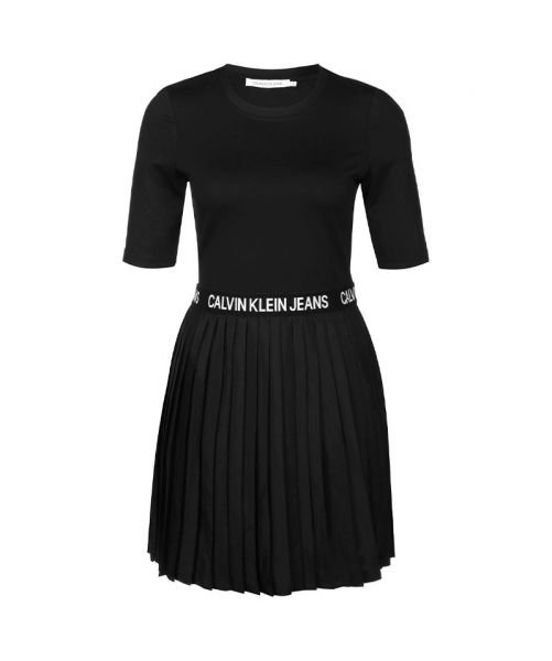 DRESS WITH CKJ LOGO BAND
