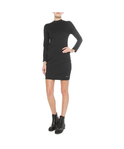 STRETCH FABRIC DRESS WITH LONG SLEEVES