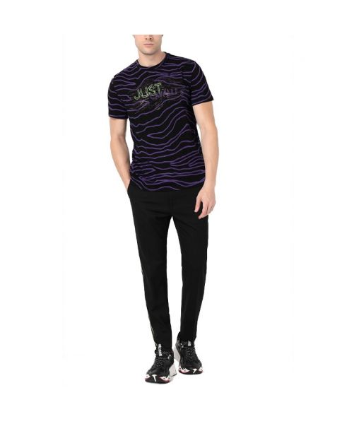 T-SHIRT WITH NEON-ZEBRA PRINT