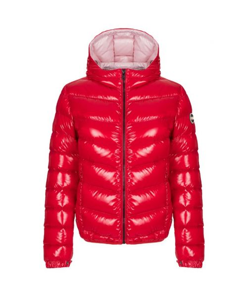ULTRA-GLOSSY HOODED BOMBER JACKET