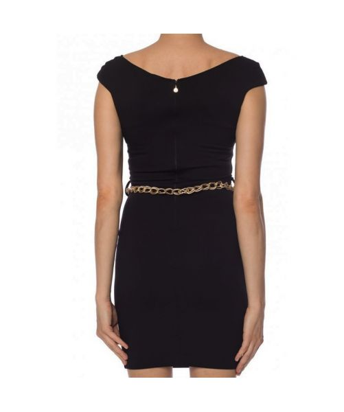 DRESS WITH CHAIN BELT