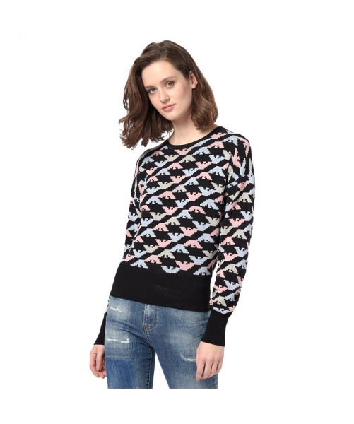 SWEATSHIRT WITH ALL-OVER EAGLES