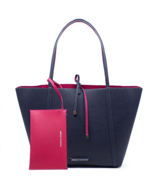 REVERSIBLE FAUX LEATHER SHOPPER BAG