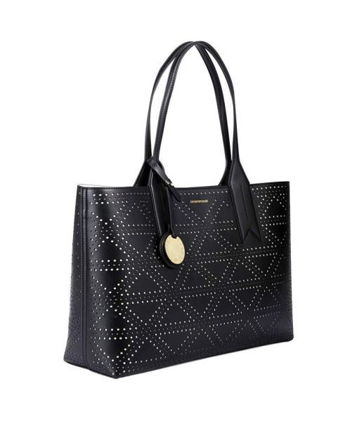 EMPORIO ARMANI PERFORATED TOTE BAG