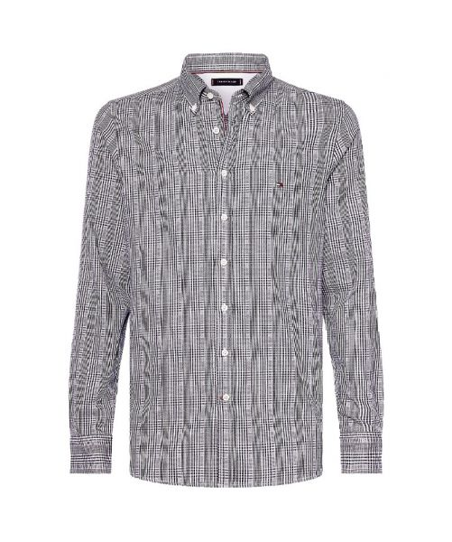 SLIM FIT PRINCE OF WALES SHIRT