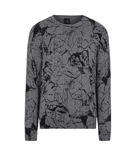 MARBLE EFFECT PULLOVER