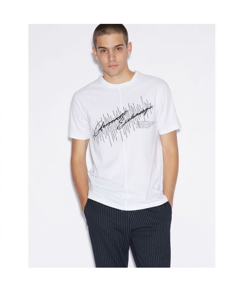ARMANI EXCHANGE T-SHIRT WITH EMBROIDERY