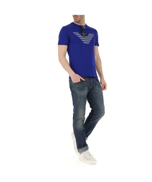 EMPORIO ARMANI T-SHIRT WITH THE STRIPED EAGLE