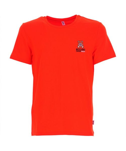 MOSCHINO T-SHIRT WITH EMBROIDERED LOGO