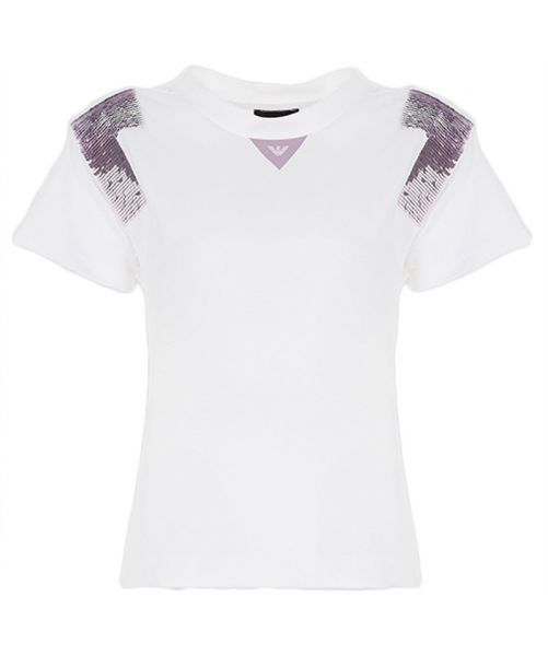 EMPORIO ARMANI T-SHIRT WITH SEQUINS