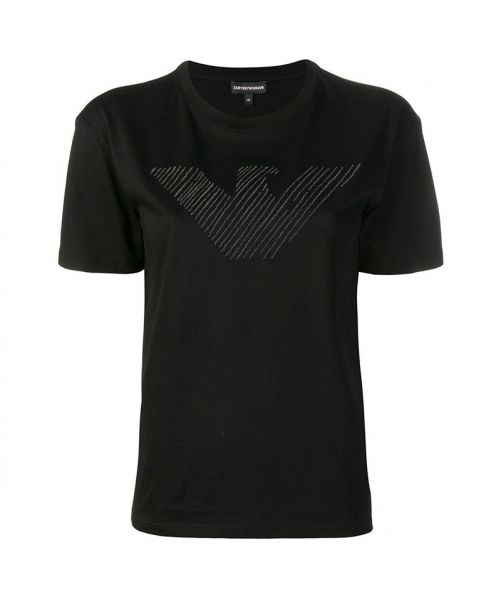 EMPORIO ARMANI  EAGLE EMBROIDERED T-SHIRT