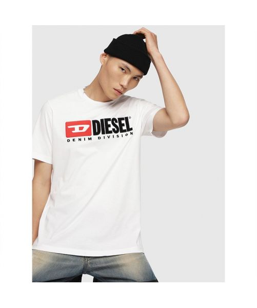 DIESEL T-SHIRT WITH VELVET LOGO