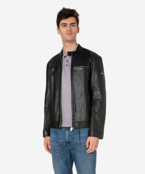 PEUTEREY LEATHER JACKET