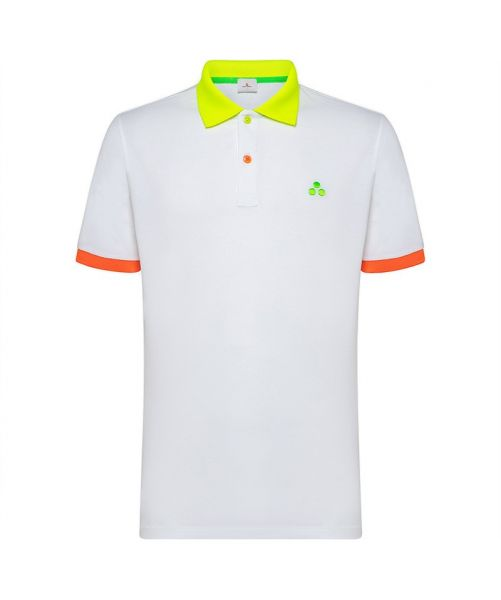 PEUTEREY POLO WITH FLUORESCENT DETAIL