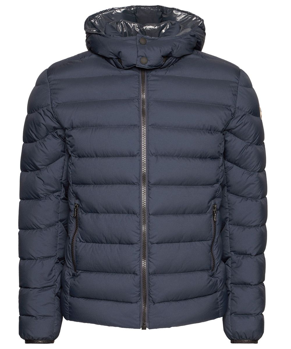 Tricolour down jacket with a lacquered interior 1264 4TV