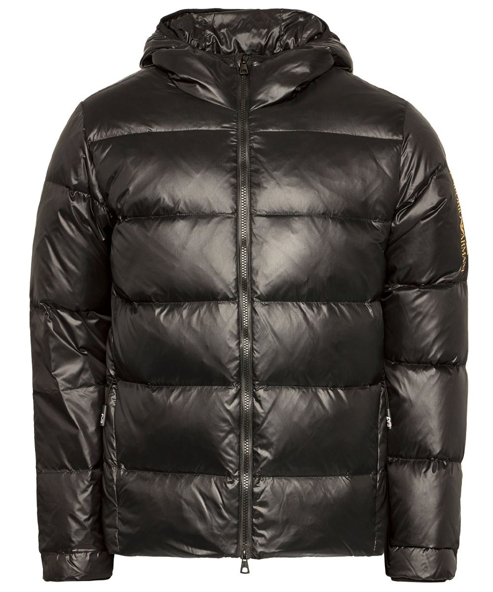Feather down hooded jacket