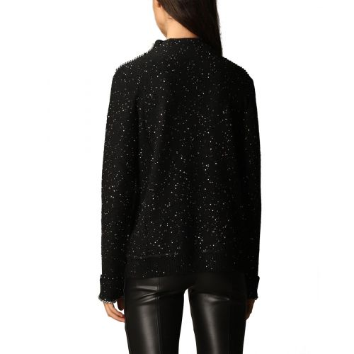 Chain-embellished sweater