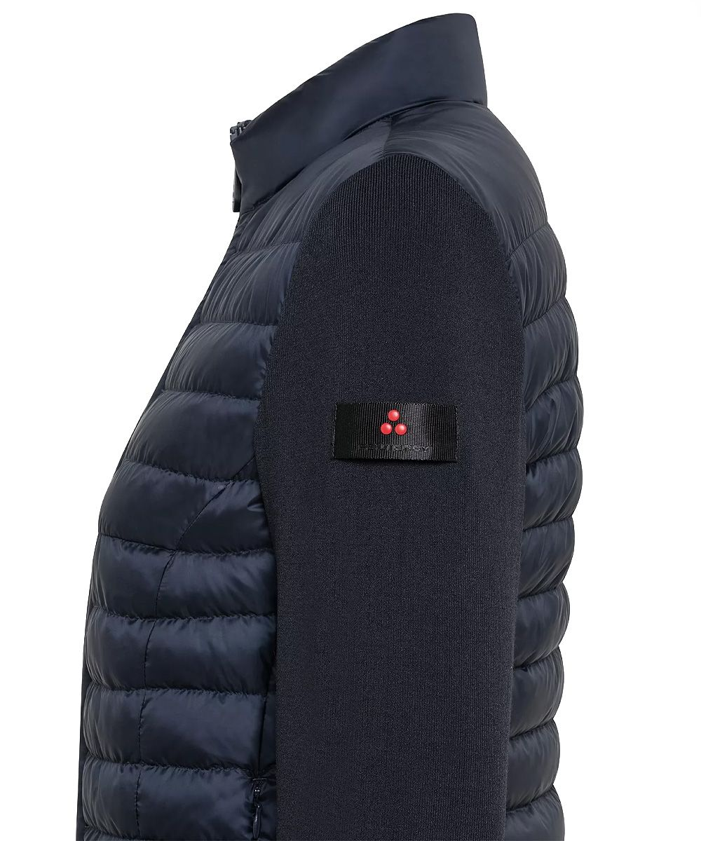 Double fabric quilted down jacket