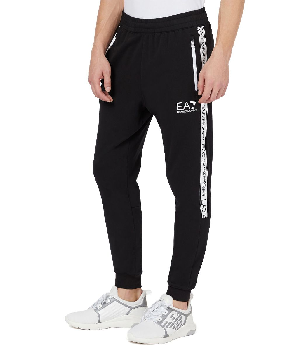Joggers with logo tape