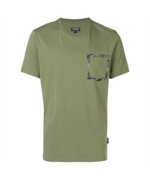 WOOLRICH T-SHIRT WITH FRONT CONTRAST POCKET