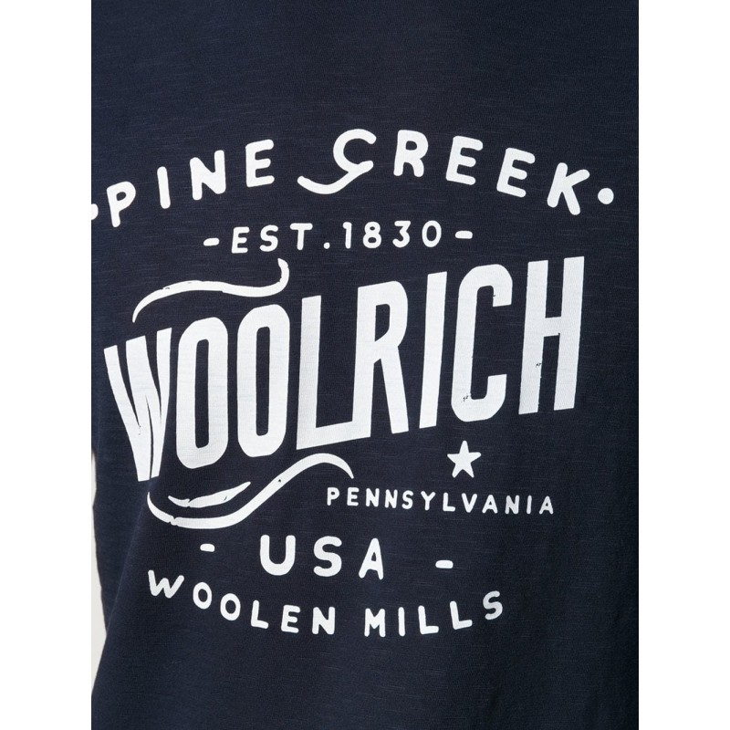 WOOLRICH T-SHIRT WITH LOGO