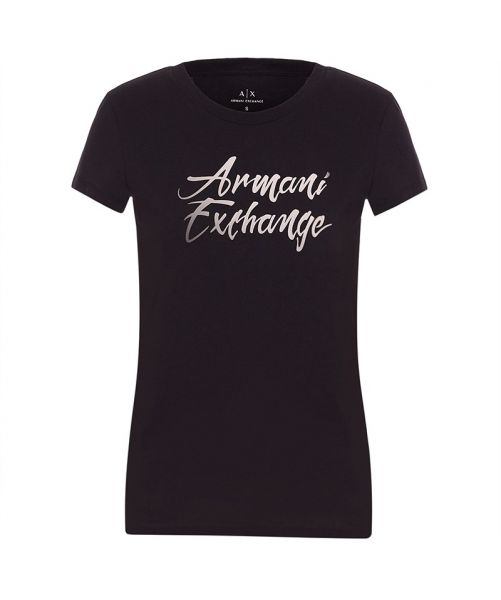 ARMANI EXCHANGE T-SHIRT WITH WRITTEN LOGO
