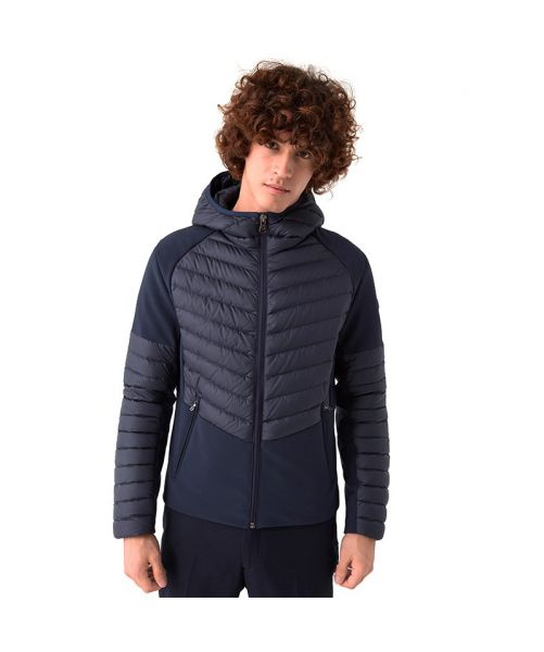 NEOPRENE-EFFECT DOWN JACKET